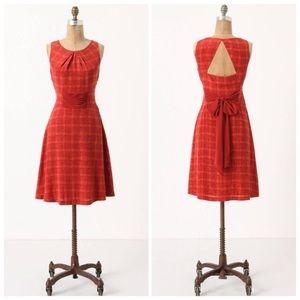 Anthropologie Girls from Savoy goji plaid dress